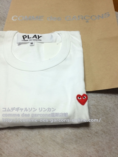IMG 3254 - Play リトル heart Tシャツのメンズ・ホワイトMサイズのご注文♪
