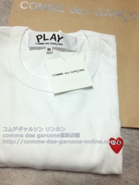 IMG 3255 - Play リトル heart Tシャツのメンズ・ホワイトMサイズのご注文♪