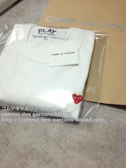 IMG 3256 - Play リトル heart Tシャツのメンズ・ホワイトMサイズのご注文♪