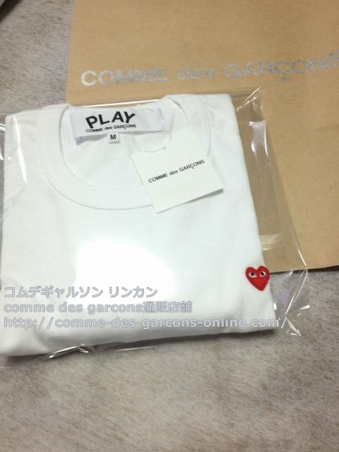 IMG 3257 - Play リトル heart Tシャツのメンズ・ホワイトMサイズのご注文♪