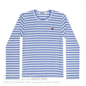 Play-L-R-Heart-Striped-T-Blue