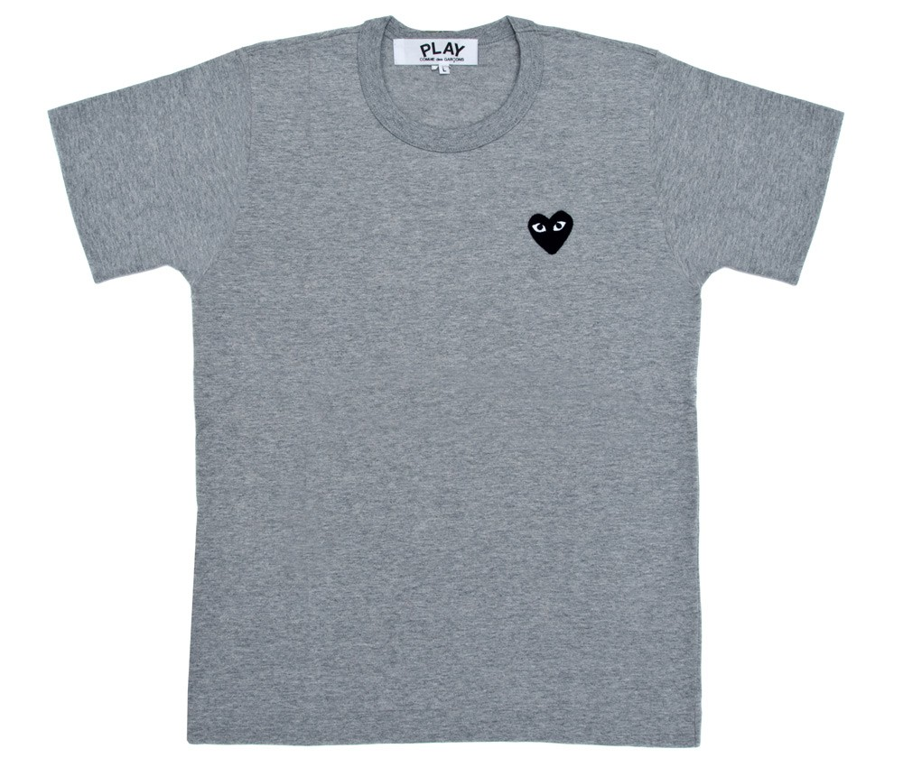 Play-One-Black-Heart-TShirt-Grey