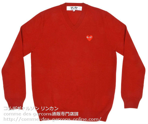 Play-V-Neck-Sweater-Red