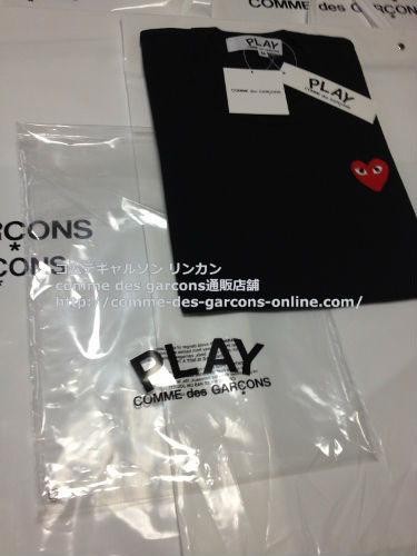 play red heart tshirt bk order10 - レディース Play COMME des GARCONS 赤ハート黒Tシャツのご注文です。