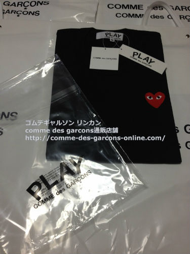 play red heart tshirt bk order11 - レディース Play COMME des GARCONS 赤ハート黒Tシャツのご注文です。
