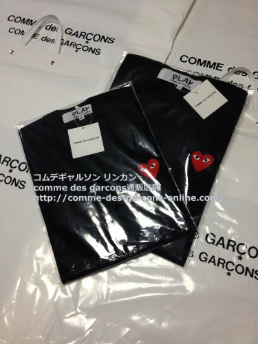 play red heart tshirt bk order12 - レディース Play COMME des GARCONS 赤ハート黒Tシャツのご注文です。
