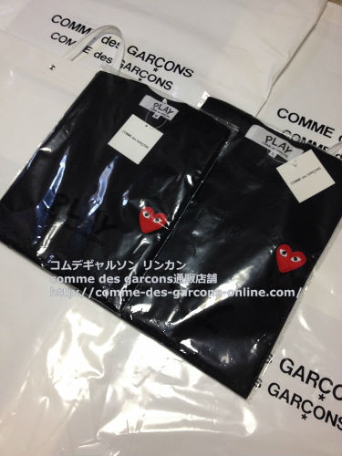 play red heart tshirt bk order13 - レディース Play COMME des GARCONS 赤ハート黒Tシャツのご注文です。