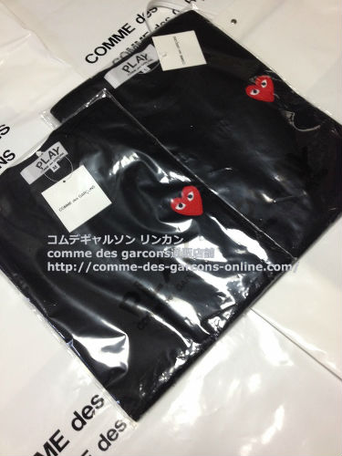 play red heart tshirt bk order14 - レディース Play COMME des GARCONS 赤ハート黒Tシャツのご注文です。