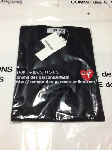 play red heart tshirt bk order7 - レディース Play COMME des GARCONS 赤ハート黒Tシャツのご注文です。