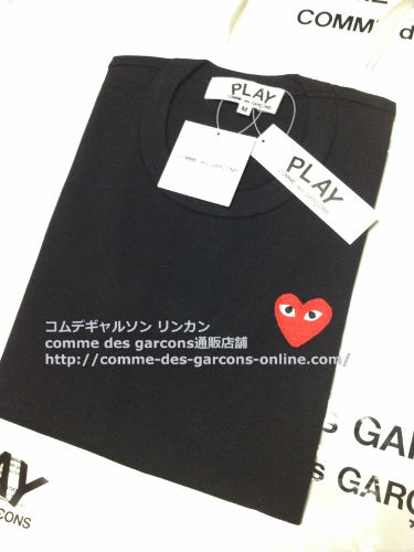 play red heart tshirt bk order8 - レディース Play COMME des GARCONS 赤ハート黒Tシャツのご注文です。