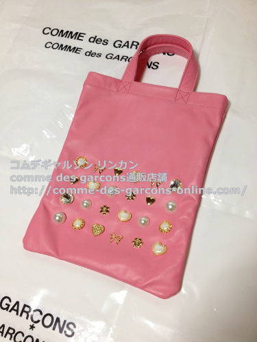 COMME DES GARCONS GIRL jewelry leather totebag pink 1 - コムデギャルソンガール・ジュエリートートバッグのご注文♪