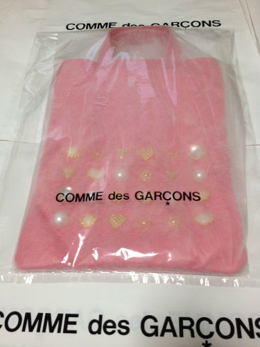 COMME DES GARCONS GIRL jewelry leather totebag pink 11 - コムデギャルソンガール・ジュエリートートバッグのご注文♪