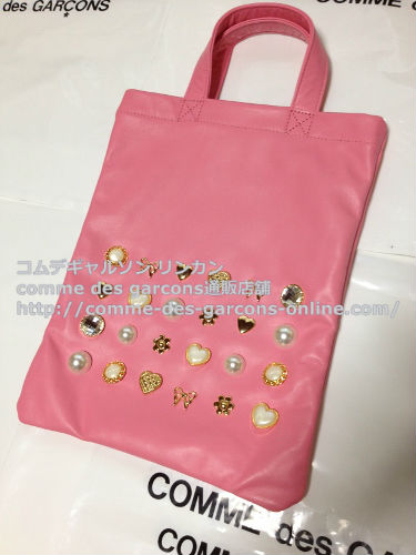 COMME DES GARCONS GIRL jewelry leather totebag pink 2 - コムデギャルソンガール・ジュエリートートバッグのご注文♪