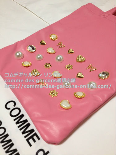 COMME DES GARCONS GIRL jewelry leather totebag pink 3 - コムデギャルソンガール・ジュエリートートバッグのご注文♪