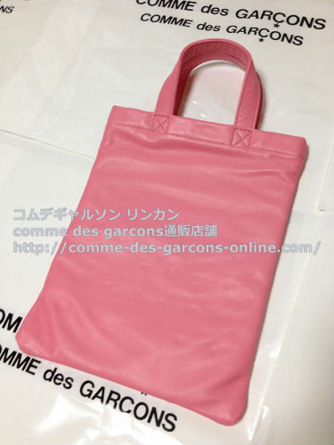 COMME DES GARCONS GIRL jewelry leather totebag pink 5 - コムデギャルソンガール・ジュエリートートバッグのご注文♪