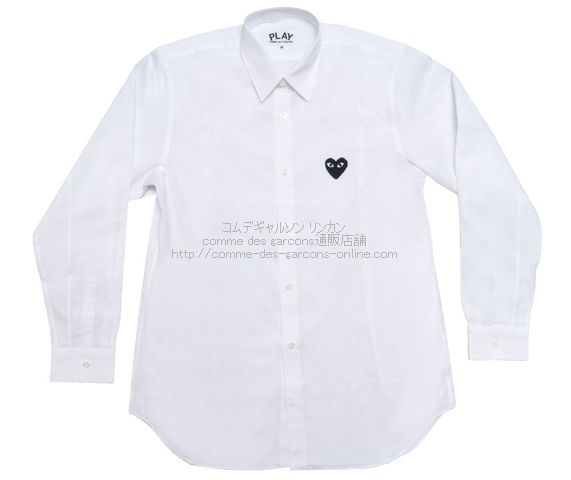 Play-Black-Heart-Shirt-Men-Wh