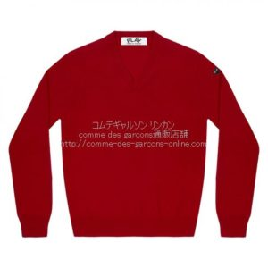 play-little-bk-heart-cotton-v-sweater-red