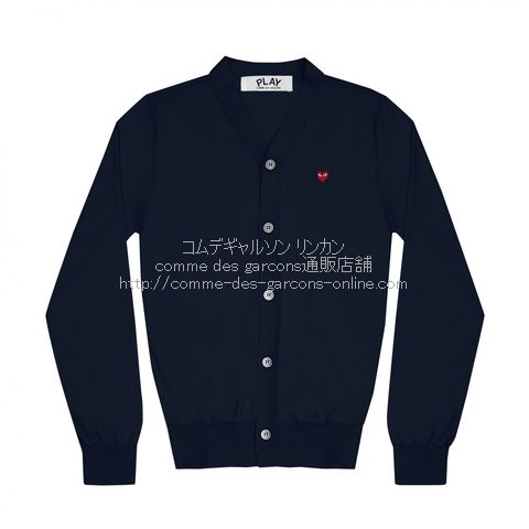 play-little-red-heart-cotton-cardigan-navy