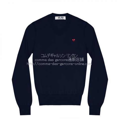 play-little-red-heart-cotton-v-sweater-navy