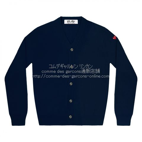 play-little-red-heart-wool-cardigan-navy
