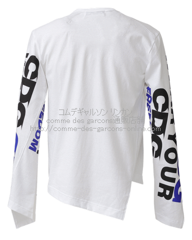 cdg-diagonal-long-tee