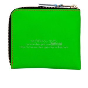 cdg-wallet-sa3100sf-superfluo-green-orange