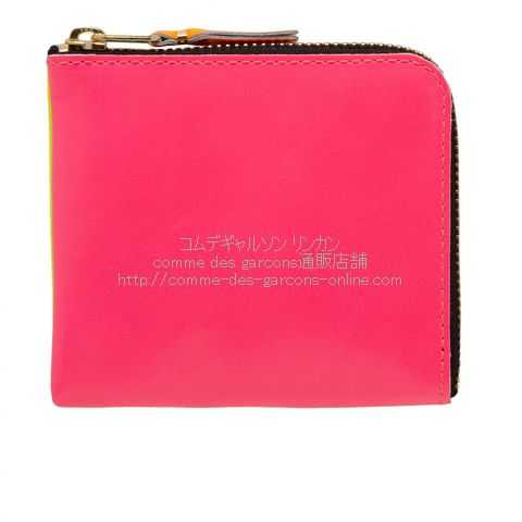 cdg-wallet-sa3100sf-superfluo-pink-yellow