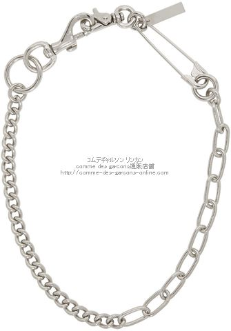 junya-silver-safety-pin-clip-necklace