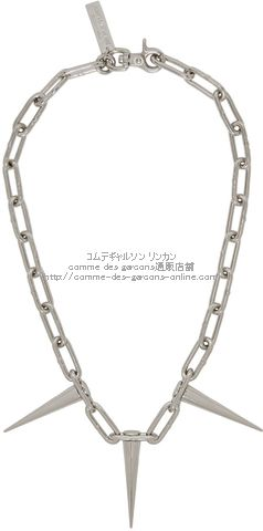 junya-silver-three-spike-chain-necklace