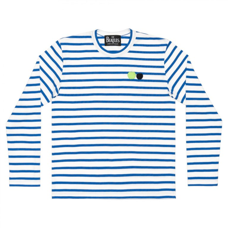beatles-cdg-stripe-long-tee-blue