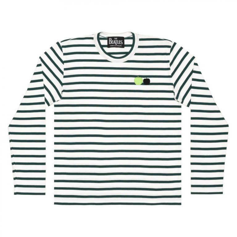 beatles-cdg-stripe-long-tee-green