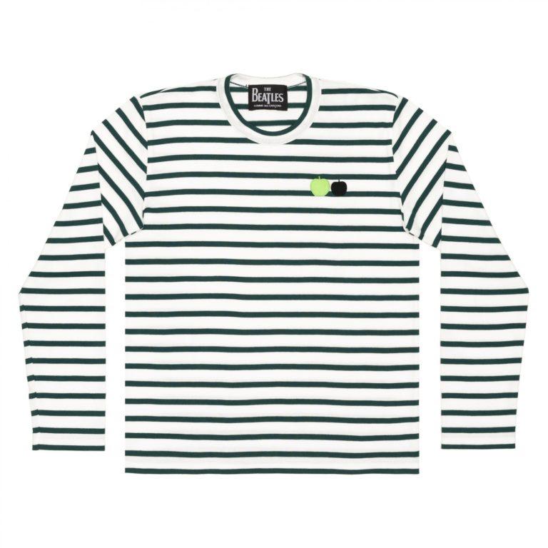beatles-cdg-stripe-long-tee-green