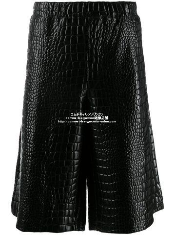 homme-plus-shortpants-croco-19aw