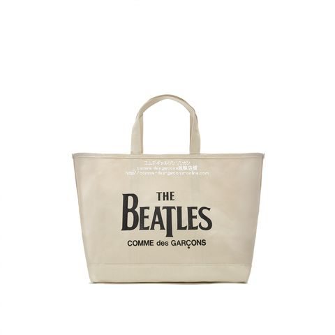 beatles-cdg-embossed-canvas-boat-tote