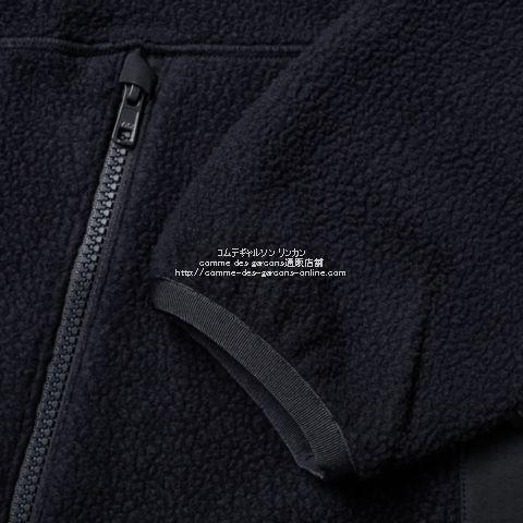 cdg-homme-collarless-sherpa-jacket